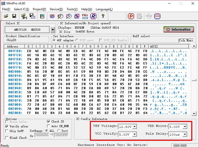 MiniPro ROM Spannungen. (BIld: Thilo Niewöhner)