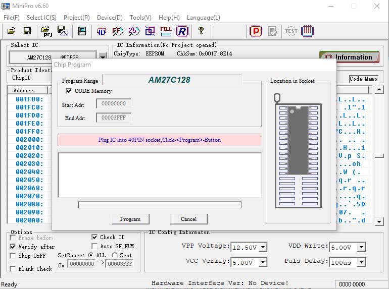 MiniPro ROM programmieren. (Bild: Thilo Niewöhner)