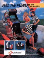 WEC Le Mans war das erste Rennspiel, dass das 24-Stunden Rennen von Le Mans thematisierte. (Bild: 1986, Konami Inc.)