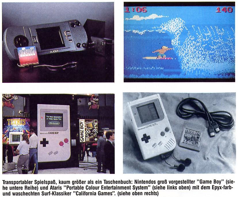 Vergleich von Lynx und Game Boy. (Bild: Tronic Verlag, ASM, 11/1989)