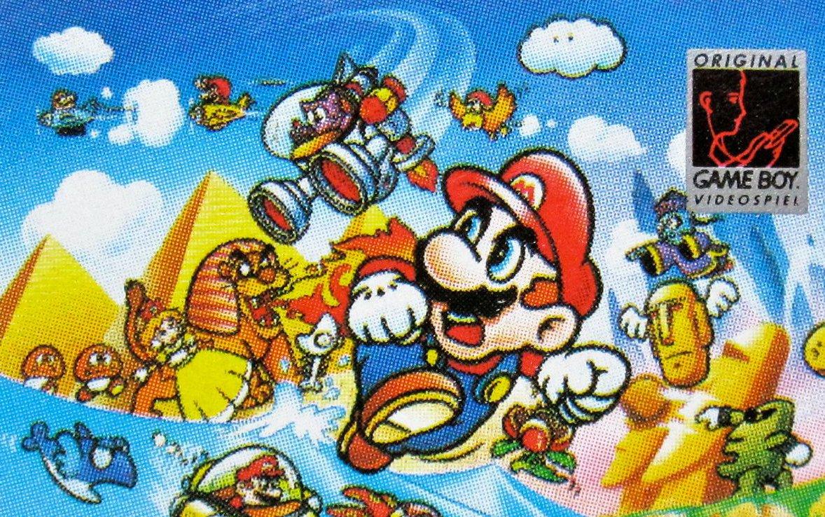 Illustration auf dem Spielmodul-Abbildung von Super Mario Land für den Game Boy. (Bild: André Eymann)