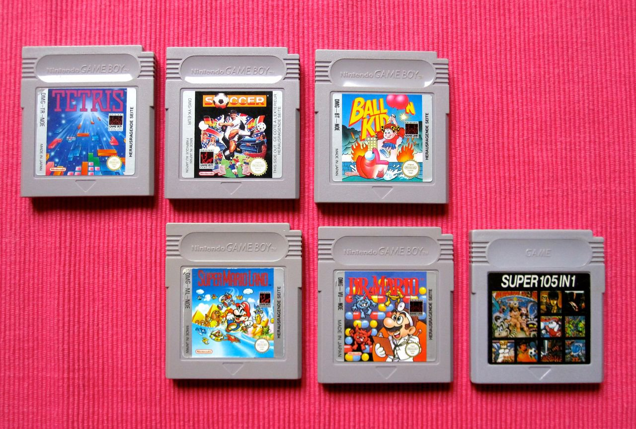 Verschiedene Spielmodule für den Game Boy. (Bild: André Eymann)