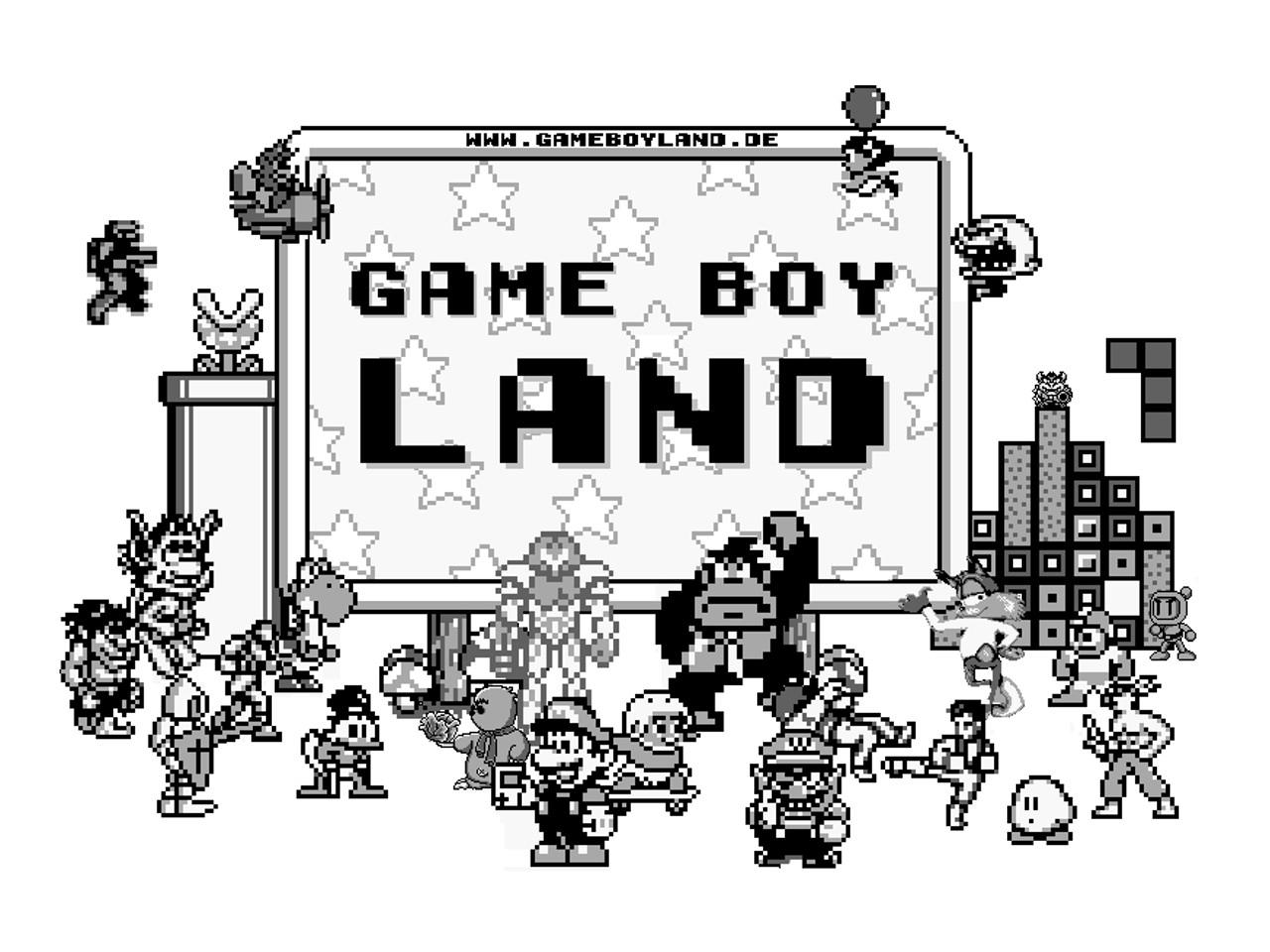 """Bekannte Videospielfiguren zieren das Logo von """"Game Boy Land"""". (Bild: Stefan Bee)"""