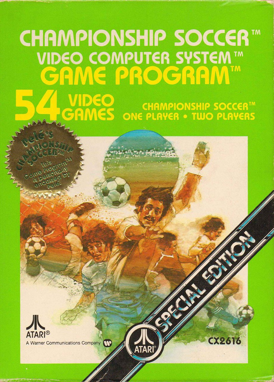 Championship Soccer von Atari aus 1980. (Bild: Atari)