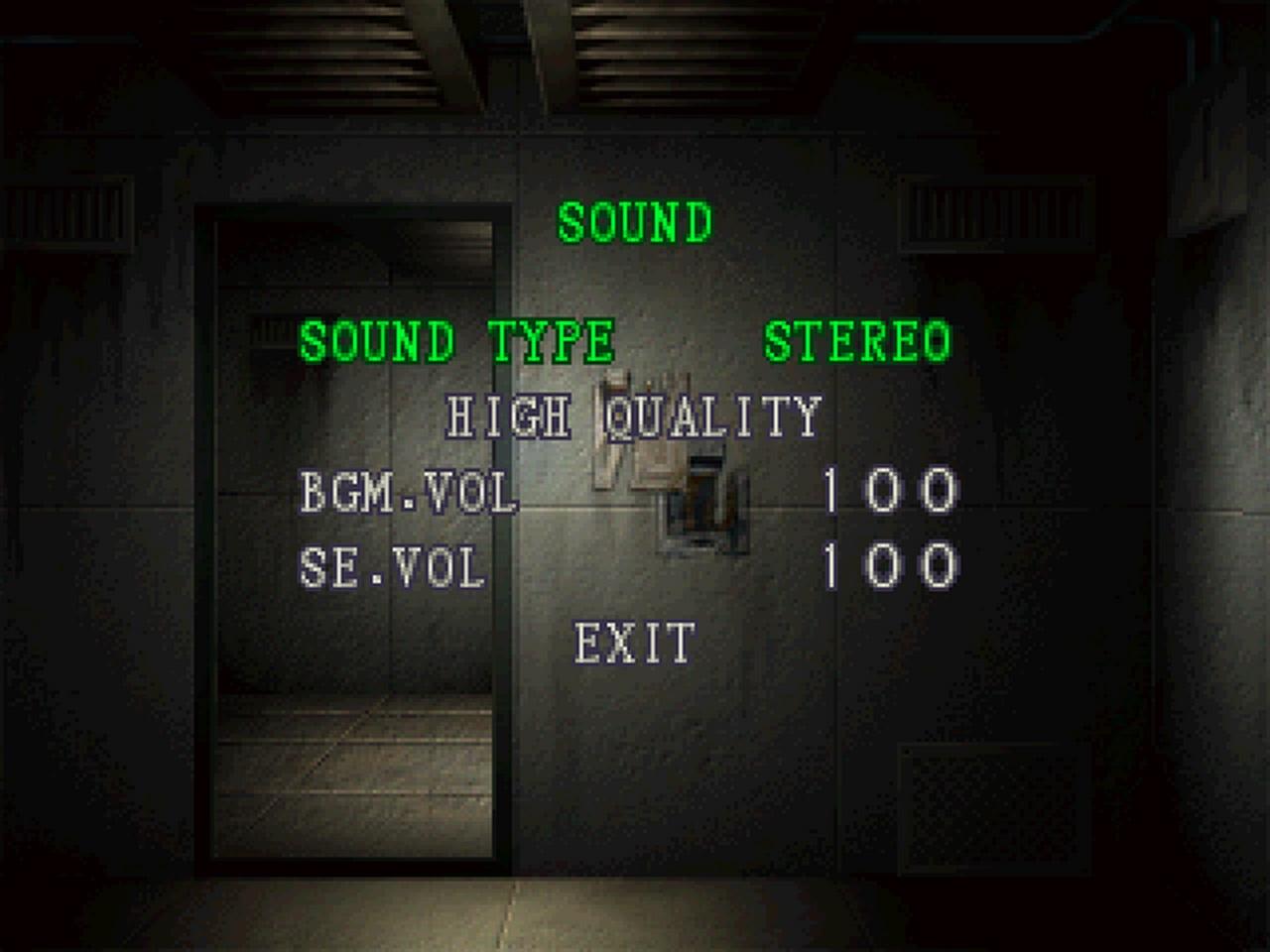 Das Sound-Menü von Resident Evil 2. (Bild: Roberto Kracht / Capcom)