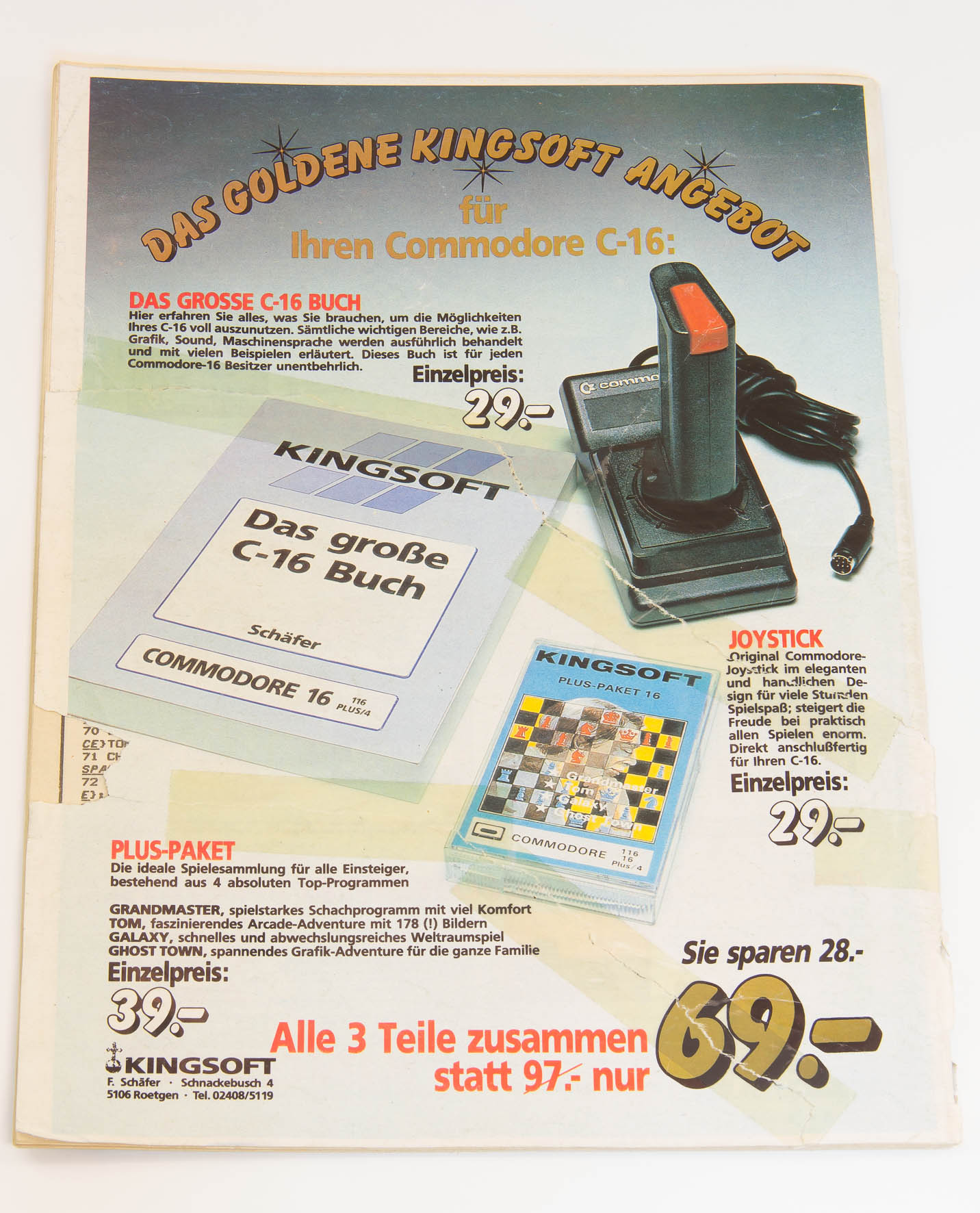 Kingsoft aus Aachen war für die User des C16 bedeutend, da die Firma viel Software für dieses System anbot. (Bild: Claudio Lione)