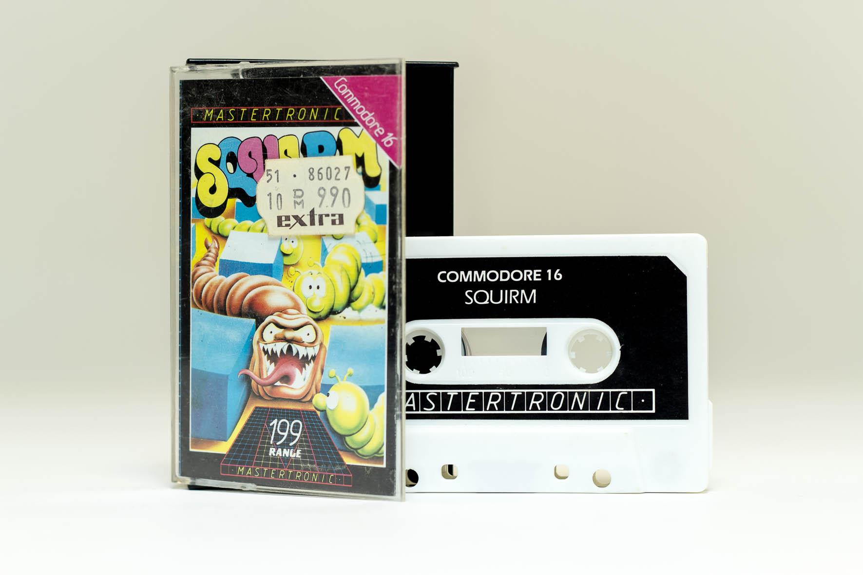 Squirm von Mastertronic: Original Kassette inkl. Schutzhülle. (Bild: Claudio Lione)