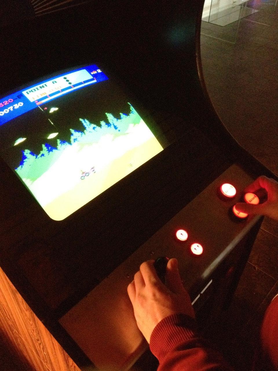Fast wie auf dem Mond: Moon Patrol von Irem steht direkt vor dem Arcade-Bereich. (Bild: André Eymann)