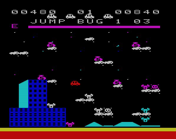 Das kreative Jump Bug aus dem Jahre 1982 konnte aufgrund seiner farbenprächtigen Grafik und der lustigen Spielidee problemlos mit den damaligen Spielen für das Atari VCS konkurrieren. (Bild: Schmid)