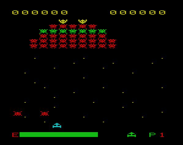 Auch mit echten Ballerspielen konnte das Tele Fever überzeugen. Space Attack von 1982 war ein gelungener Galaxian-Klon, der es verstand, Spielhallenatmosphäre auf den heimischen Fernseher zu zaubern. (Bild: Schmid)