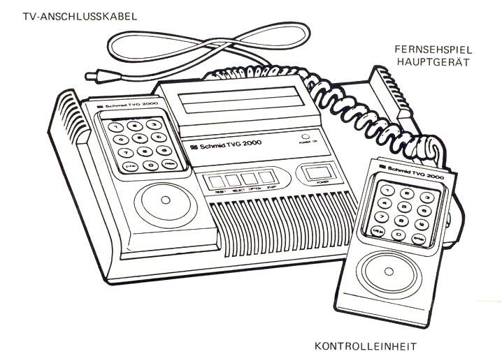 Die Schmid TVG 2000 Konsole wurde als Tele Computer Color Fernsehspiel beworben. Die Spiele dieser Konsole waren kompatibel zum Tele Fever System. (Bild: Schmid)