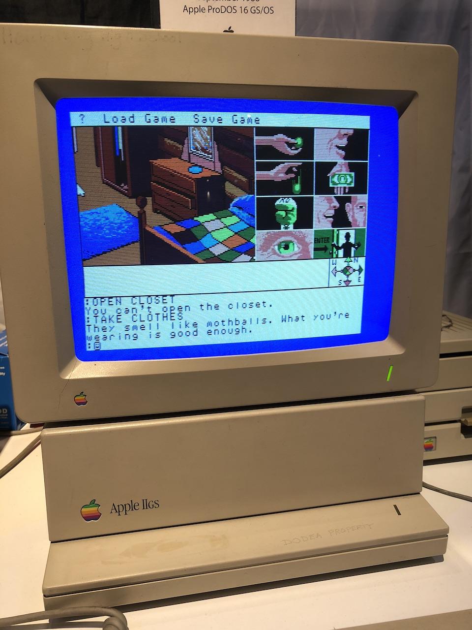 Ein Text- / Grafikadventure auf dem Apple II GS. (Bild: Stefan Vogt)