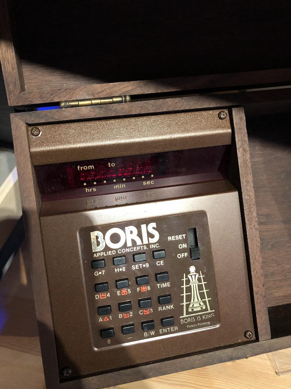 Detail eines BORIS Computer Chess Systems. (Bild: Stefan Vogt)