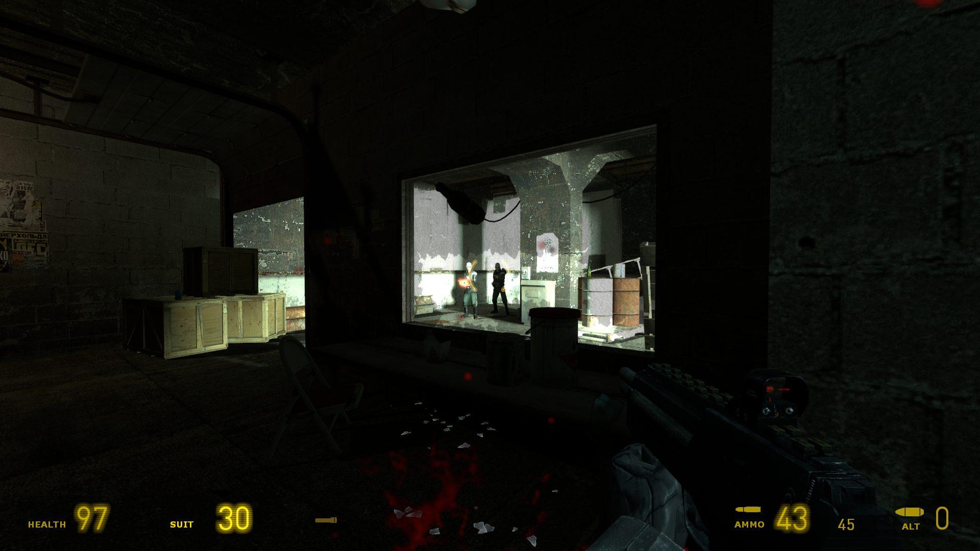 Wir treffen im Spielverlauf auch auf die Combine-Soldaten. (Bild: Robert Reiche)