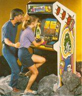 Werbung für das Spiel Dig Dug in den Achtzigern. (Bild: Electronic Games)