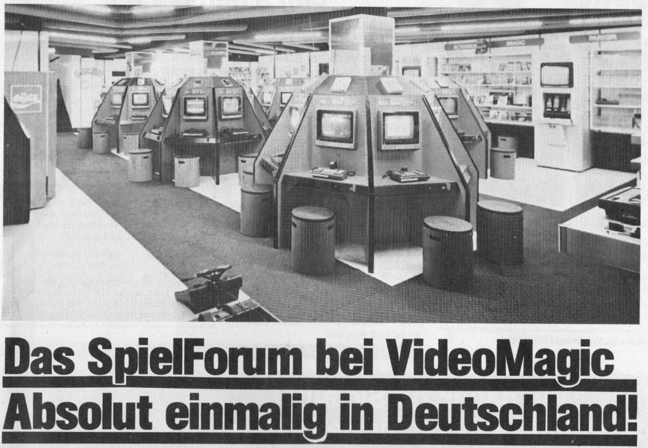 Das Spielforum von Videomagic in München. (Bild: Guido Frank)