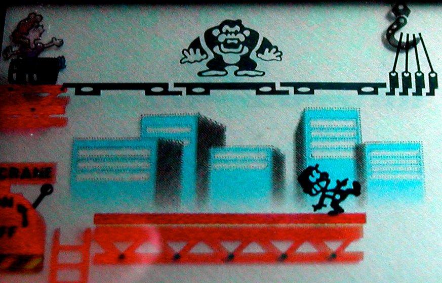 Mario arbeitet sich auf dem Baugerüst nach oben. Der grimmige Riesenaffe sieht das gar nicht gern. (Bild: André Eymann)