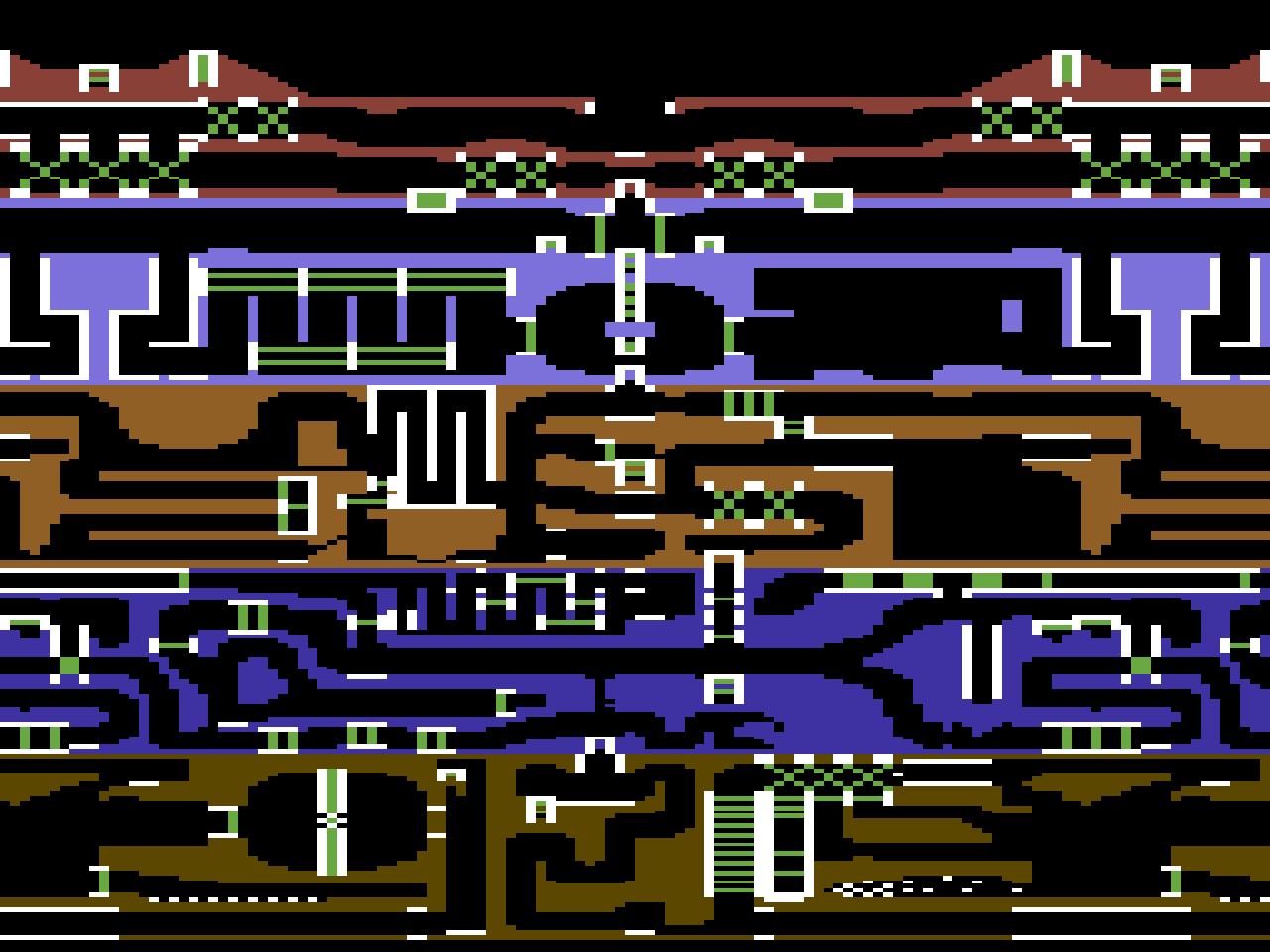 Die Übersicht des Höhlen-Labyrinths von Fort Apocalypse II, so wie es von David Riehl erweitert wurde. (Bild: David Riehl)
