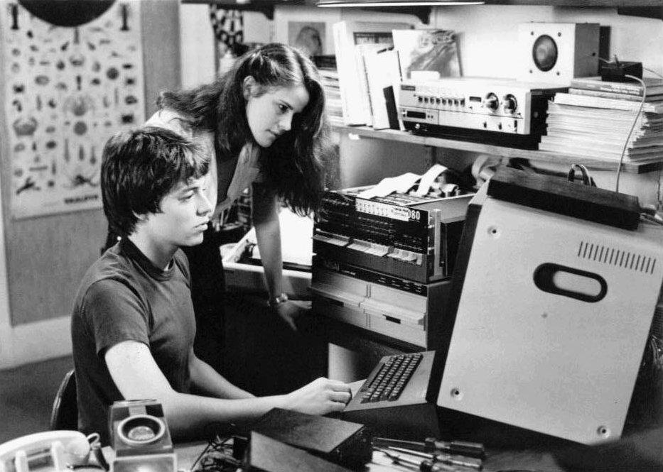 David Lightman, die Hauptfigur von Wargames, vor seinem IMSAI 8080. (Bild: United Artists)