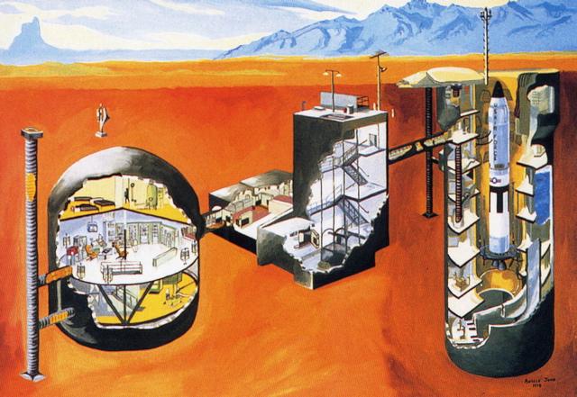 Ein unterirdischer Atombunker. (Bild: Guido Frank)