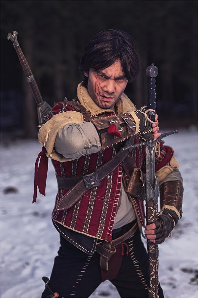 Eskel aus dem Spiel The Witcher 3 von CD Project Red. Model: Krishna, Instagram: @kadart_cosplay. Facebook: @kadartcosplay. Twitter: @KrishnaDammert. (Foto: Annika Witt)