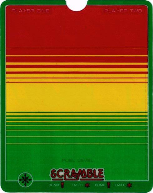 Vectrex Overlay für Scramble. (Bild: Milton Bradley)