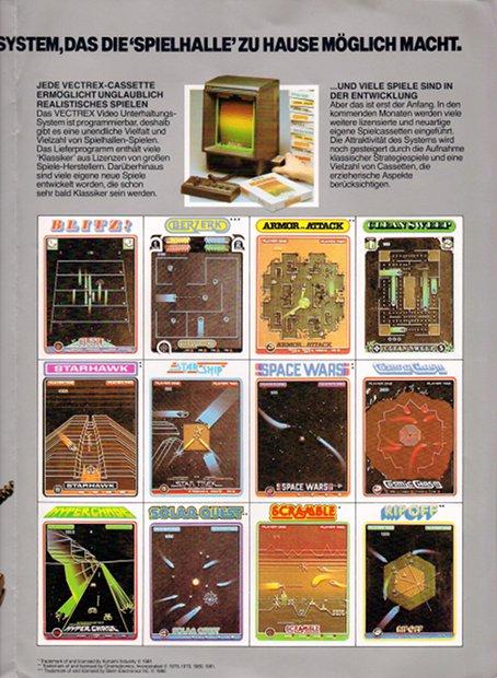 Übersicht des Spieleangebots. (Bild: Milton Bradley)
