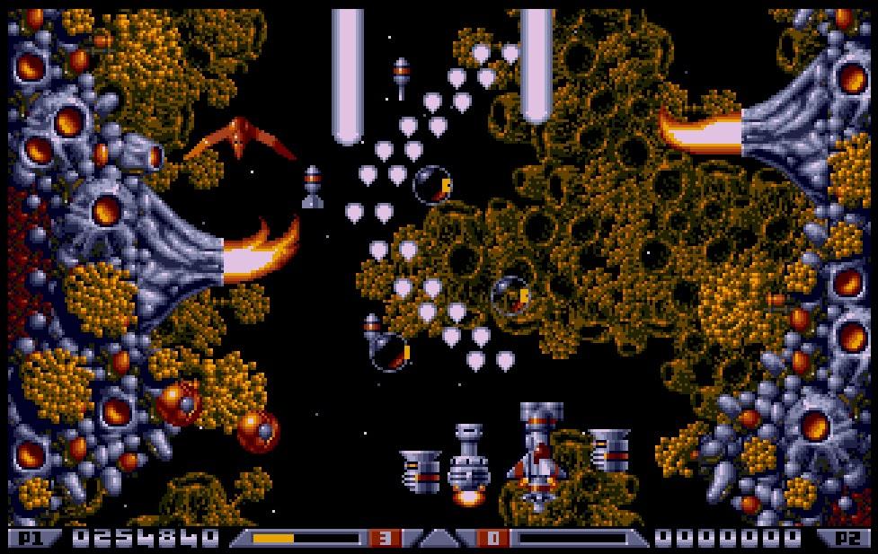 Das wunderschöne Xenon 2: Megablast wurden in allen Spielbereichen gelobt. (Bild: Bitmap Brothers)