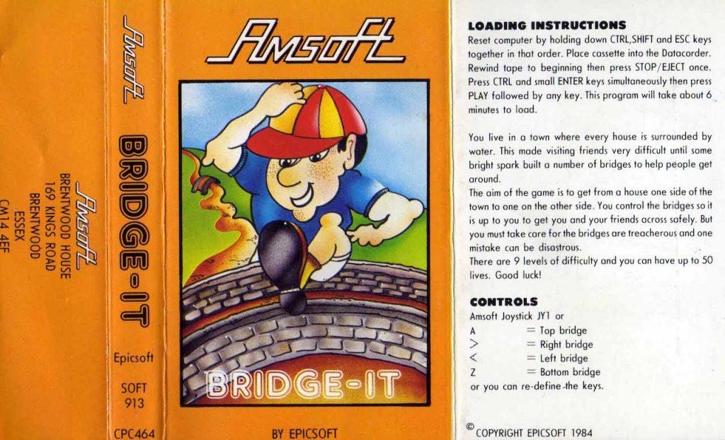 Das Covertape mit der Spielbeschreibung. (Bild: www.cpcwiki.eu)