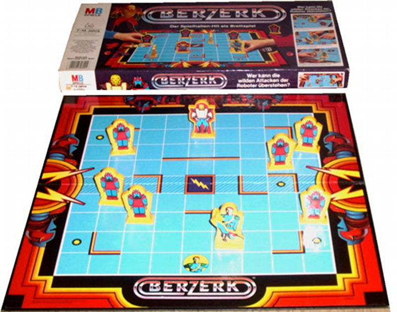 Das Brettspiel Berzerk von Milton Bradley. Gut gegen Böse in klassischer Manier. (Bild: MB)