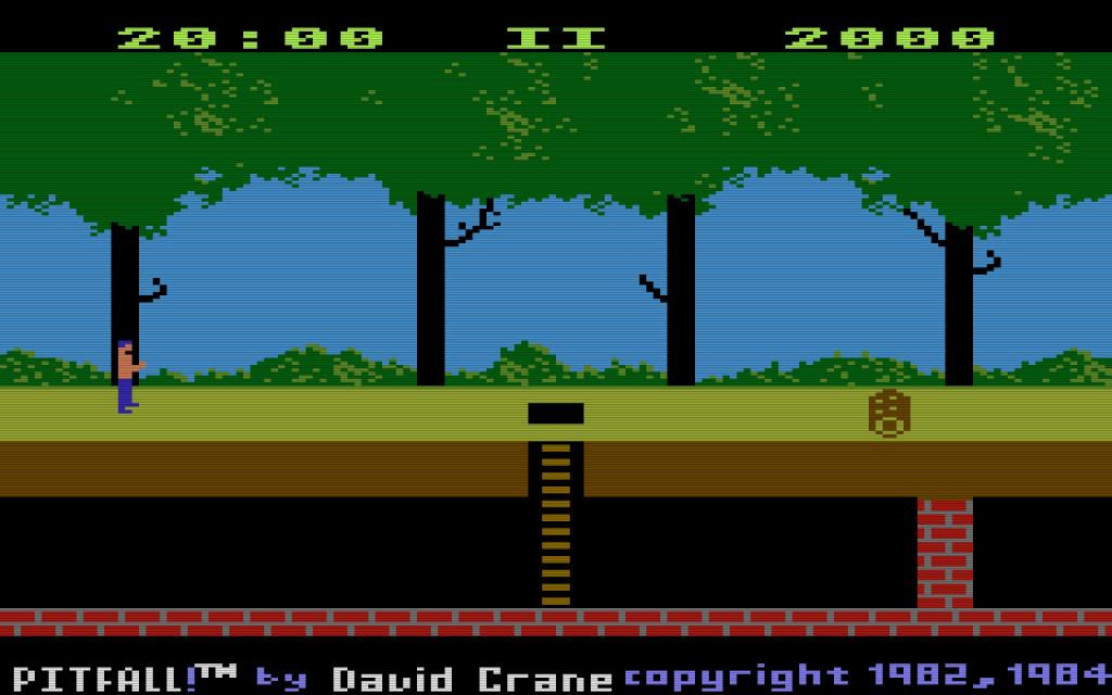 Die Pitfall!-Version die 1984 für die Atari 5200 Spielkonsole erschien wurde ebenfalls von dem Activision-Programmierer David Crane entwickelt. (Bild: Activision)