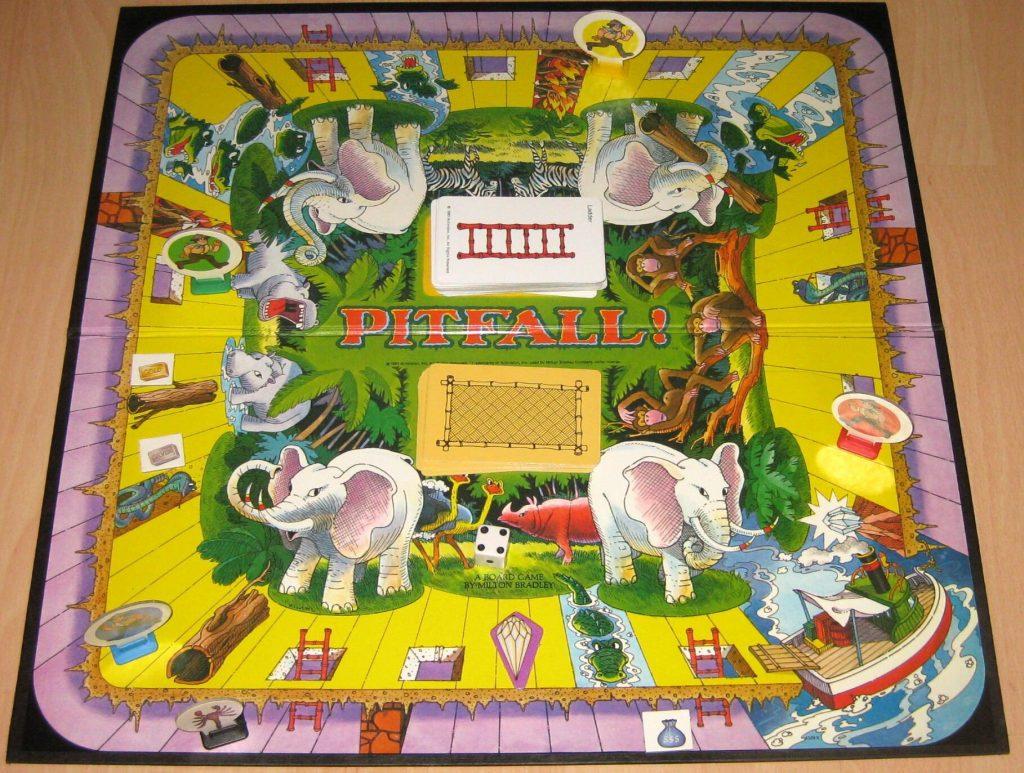 Das Brettspiel Pitfall! von Milton Bradley. Auf der Jagd nach dem unheimlich wertvollen Diamanten. (Bild: MB)