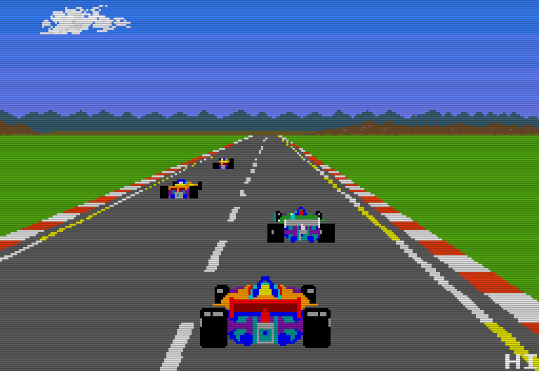 Die Automatenversion von Pole Position war sehr farbenfroh. (Bild: Namco)