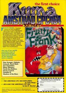 Werbung für den von Früchten geplagten Frank in einem englischen Spielemagazin. (Bild: Kuma Computers Ltd.)