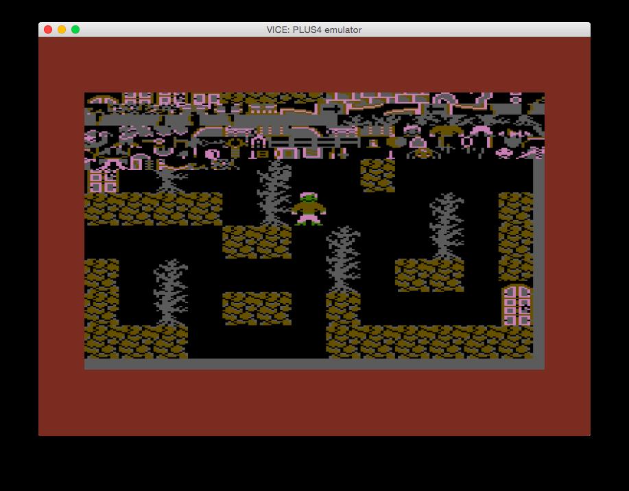 Im oberen Bereich des Spieles sieht man alle verfügbaren Zeichen von 00 bis FF. (Bild: Ingo Hinterding)