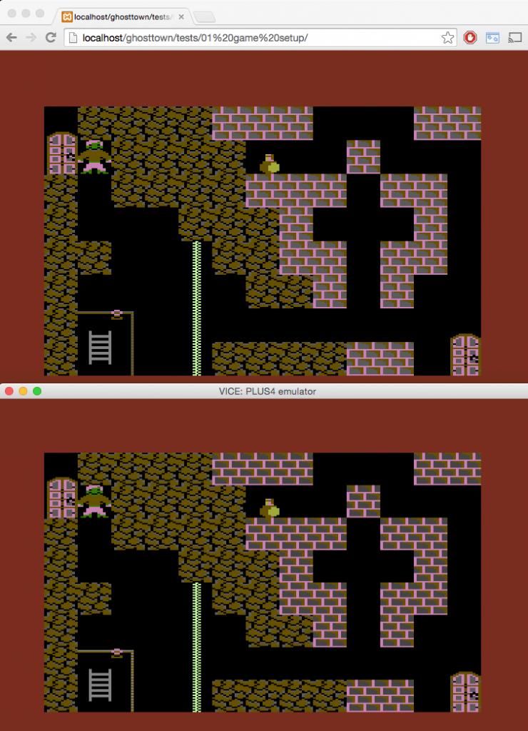 Im Vergleich: oben die Ansicht im Browser, unten im Emulator. (Bild: Ingo Hinterding)