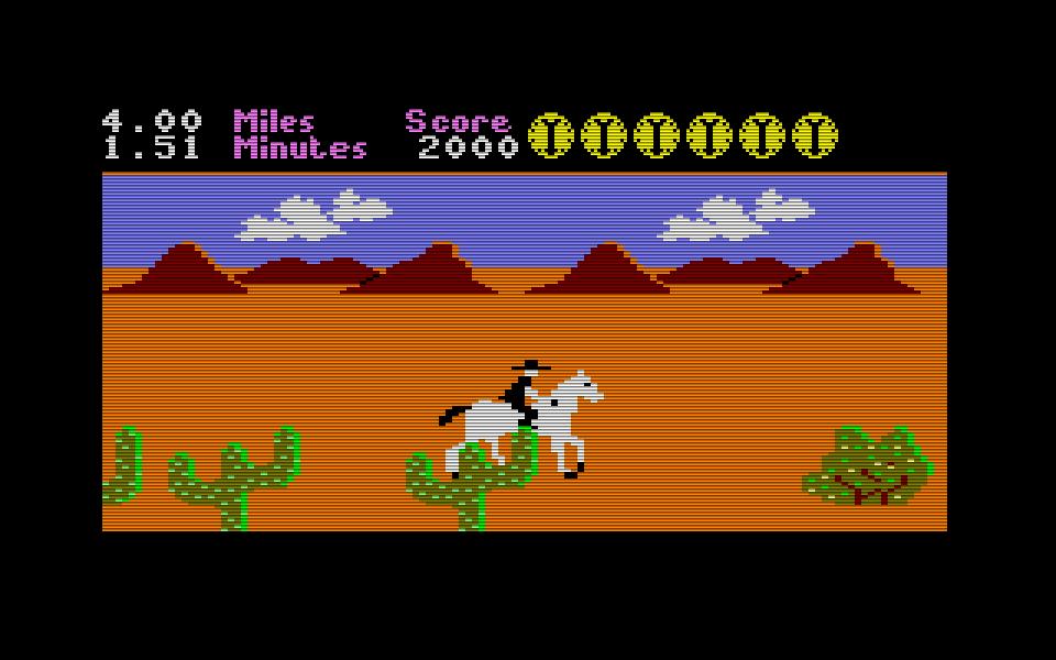 Pferdchen mach Galopp - Quer durch die Prärie, auf dem Weg nach Kane. (Bild: Mastertronic)