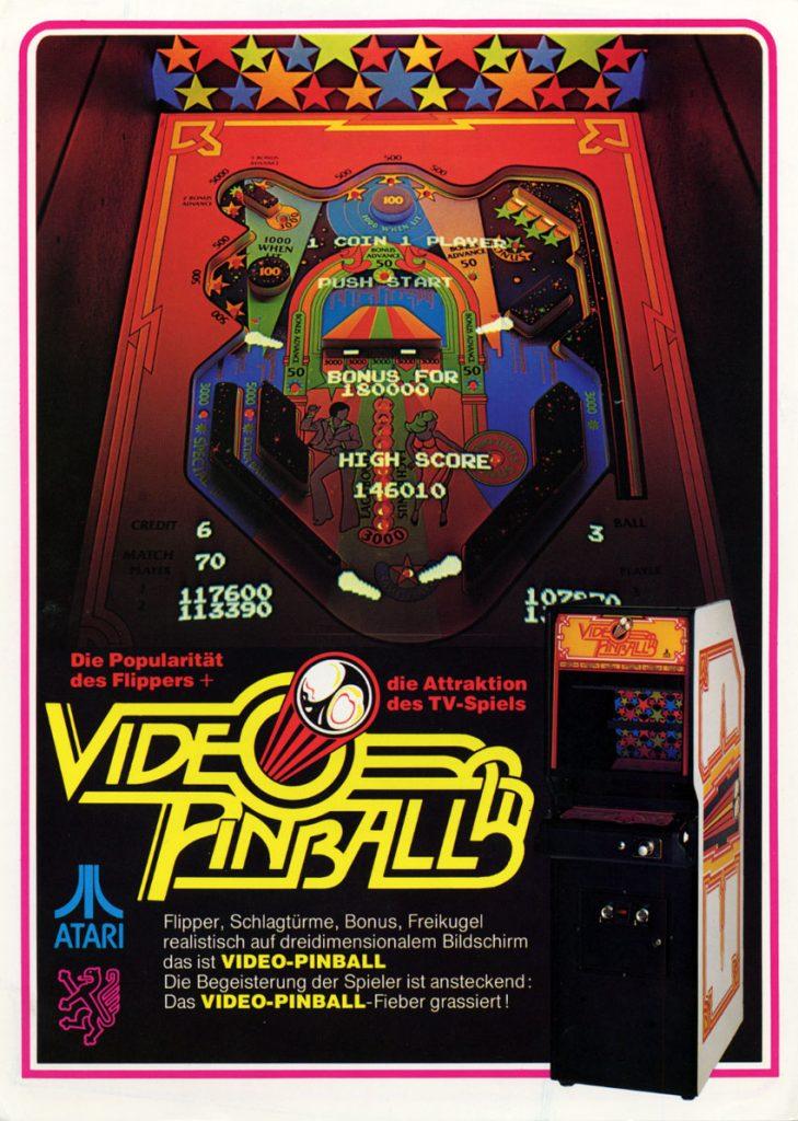Version für die Spielhalle - VIDEO PINBALL von Atari. (Bild: Atari)