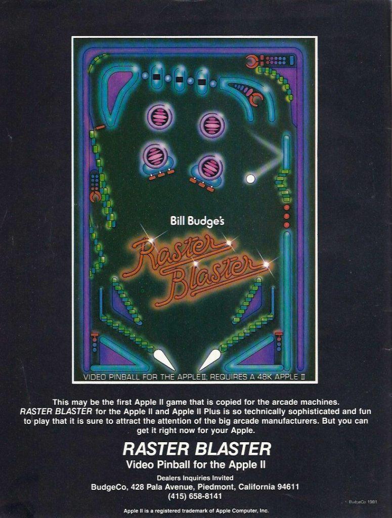 RASTER BLASTER für den Apple II. (Bild: BudgeCo)