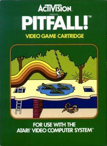 Die Abbildung auf der Vorderseite der Atari VCS Verpackung von Pitfall!