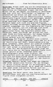 Leseprobe zu Archon aus dem ersten C64-Spieleführer von Rombach. (Bild: Rombach Verlag)