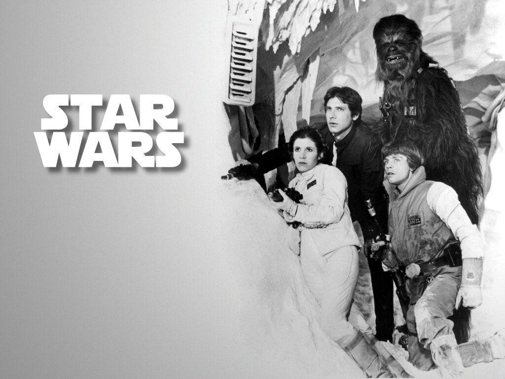 Die Original Star Wars Crew (von links): Prinzessin Leia, Han Solo, Chewbacca und natürlich Luke Skywalker. (Bild: LucasArts)
