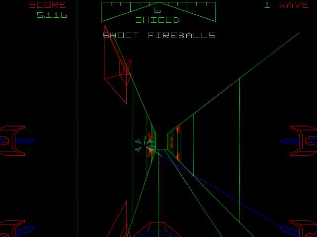Der enge Tunnel auf der Oberfläche des Todessterns gehört zu den beeindruckendsten Szenen des Spiels. (Bild: Atari)
