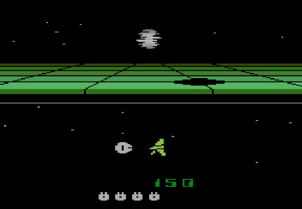 Im unendlichen Weltall. Return of the Jedi: Death Star Battle für Atari VCS von 1983. (Bild: Parker)