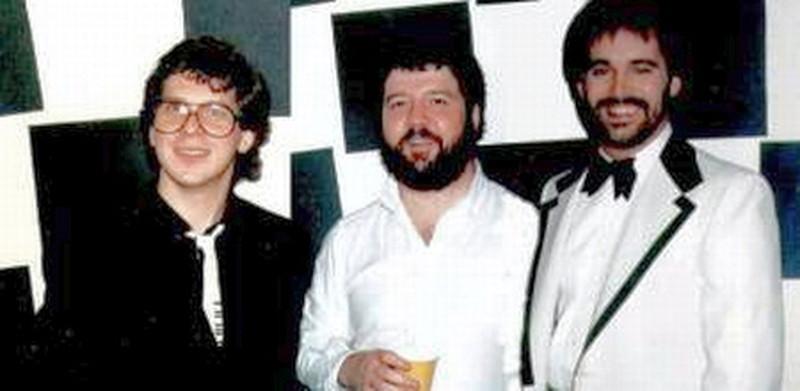 Die Star Wars Programmierer im Dezember 1984: Larry Gelberg, Joe Emerson und Ray Miller (von links)