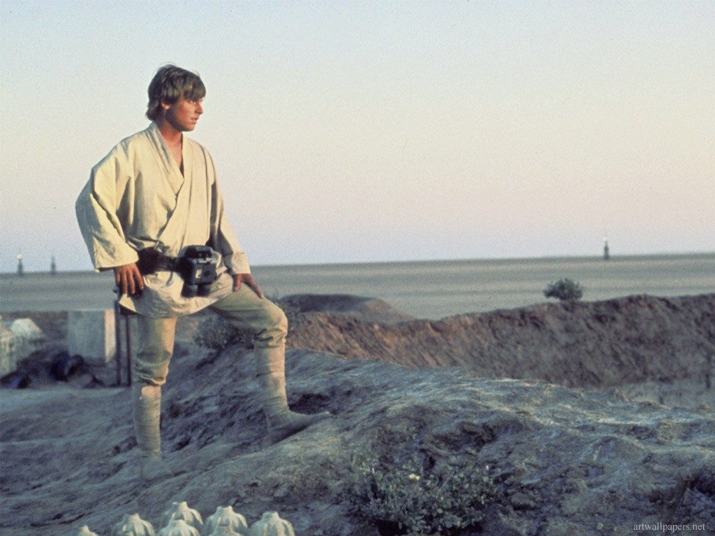 Luke Skywalker auf dem Planeten Tatooine (Bild: LucasArts)