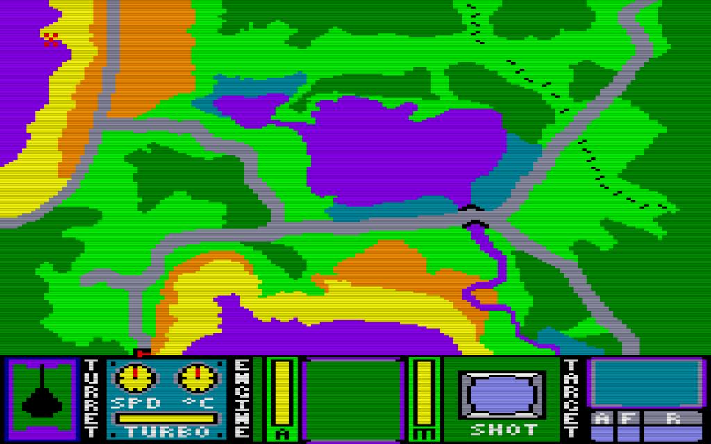Die Kartenansicht von Tank Command. (Bild: Magic Logic)