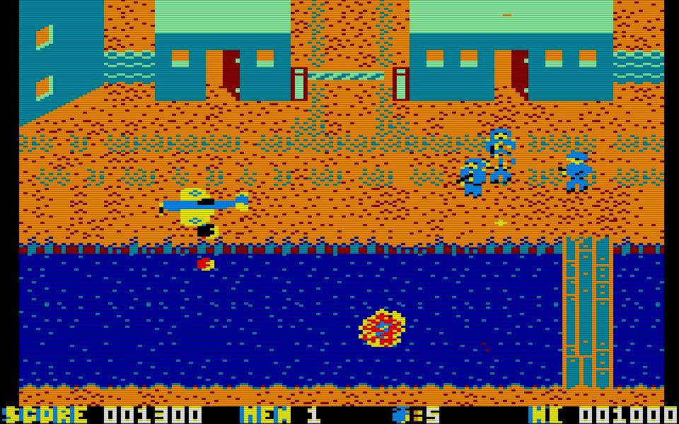 Dafür übertrieb des die Amstrad Version von Who Dares Wins 2 manchmal mit der Farbauswahl. (Bild: Alligata)