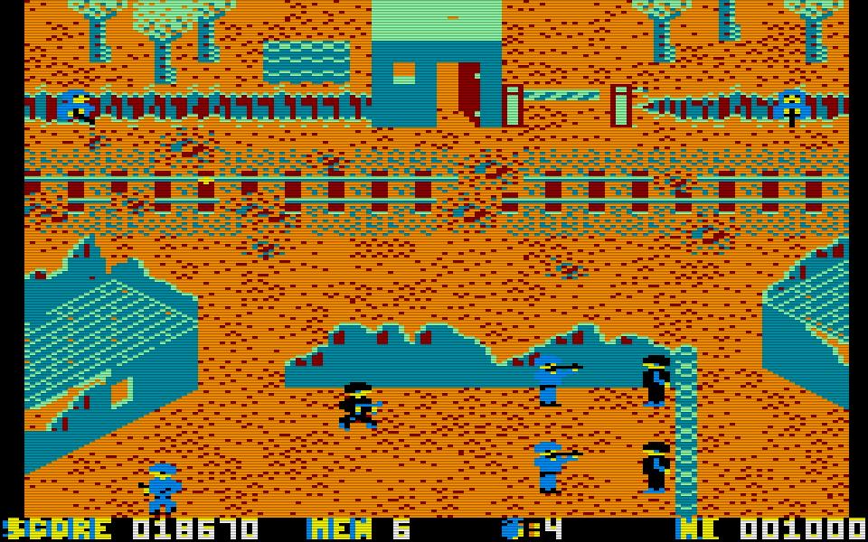 Die 8-bittigen Pixel können nicht darüber hinwegtäuschen, dass es sich bei Who Dares Wins II um ein recht brutales Spiel handelt. (Bild: Alligata)