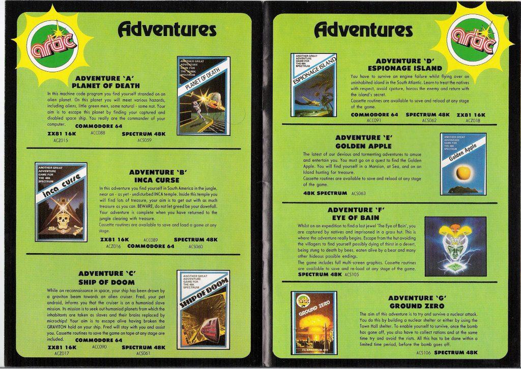 Werbung für die Adventure-Spiele von ARTIC. (Bild: Jens Sommerfeld)